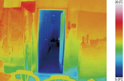 サーモグラフィカメラによる部屋ごとの温度差