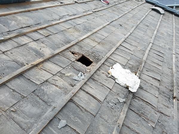 瓦屋根葺替え